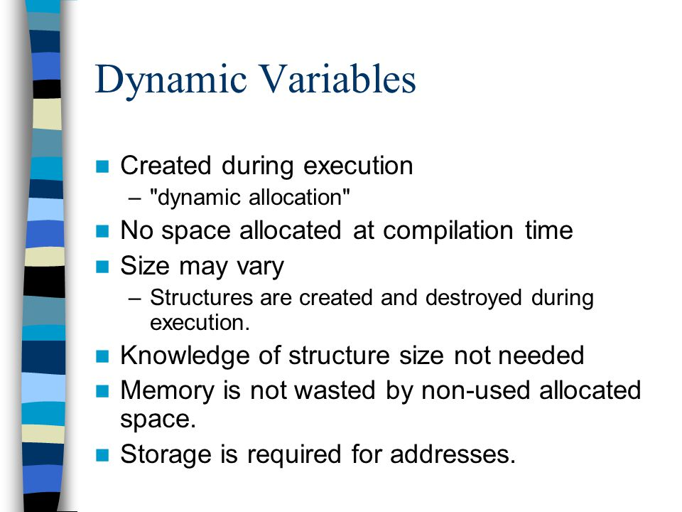 Dynamic Variables Created during execution