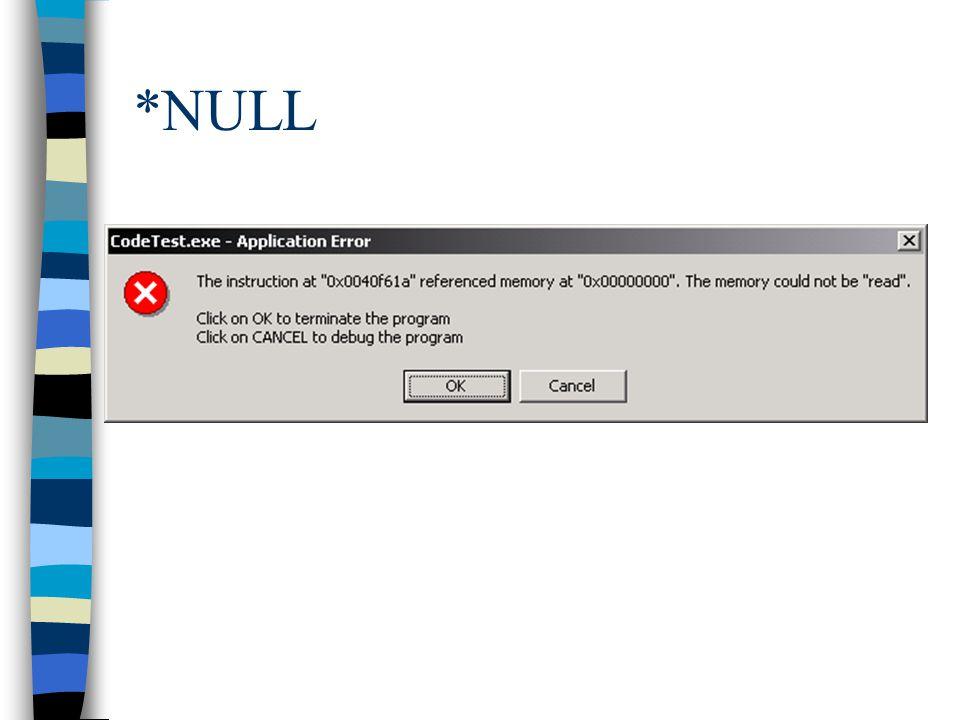 *NULL