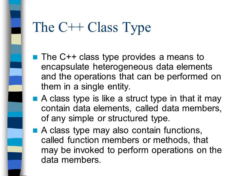 The C++ Class Type