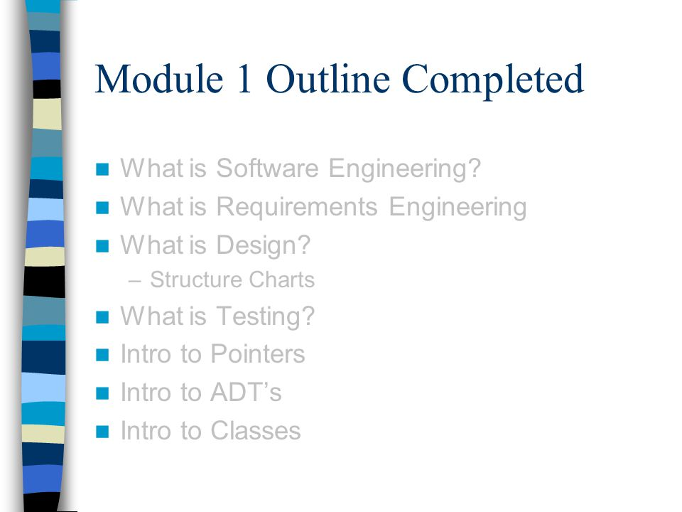 Module 1 Outline Completed