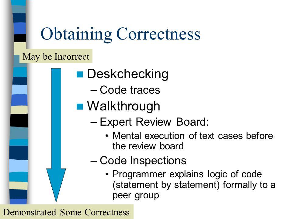 Obtaining Correctness