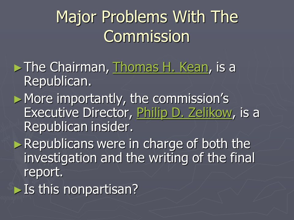 Major Problems With The Commission