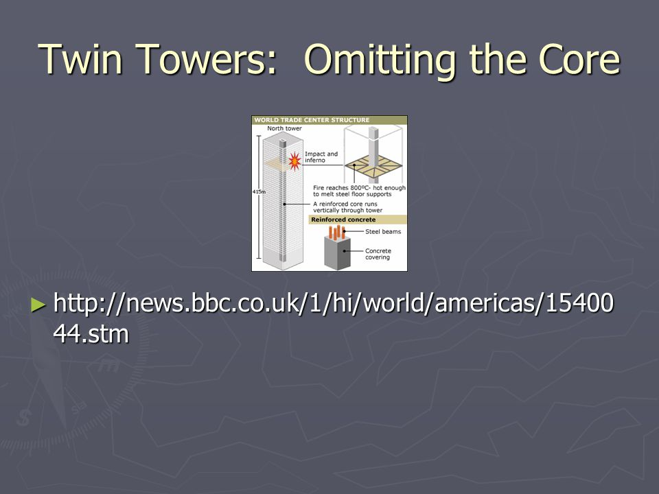 Twin Towers: Omitting the Core