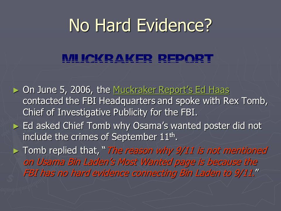 No Hard Evidence