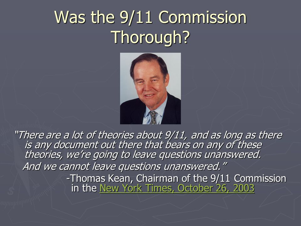 Was the 9/11 Commission Thorough