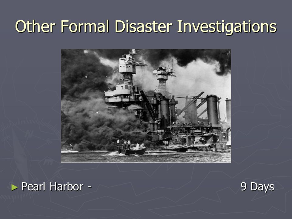Other Formal Disaster Investigations