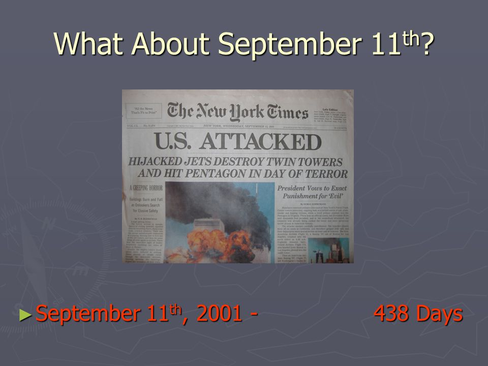 What About September 11th