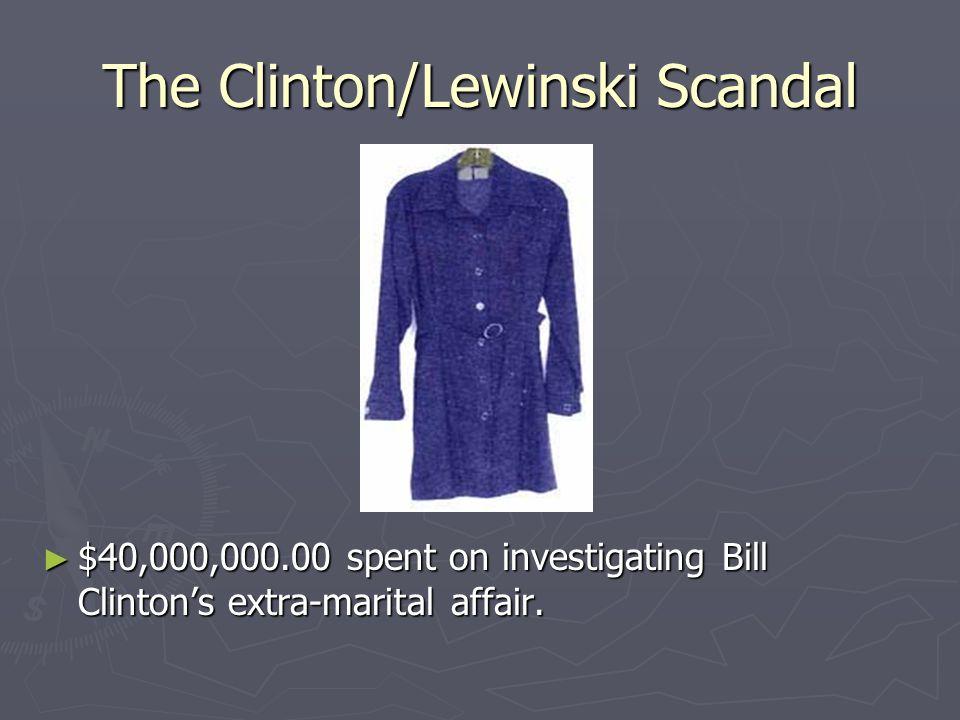 The Clinton/Lewinski Scandal