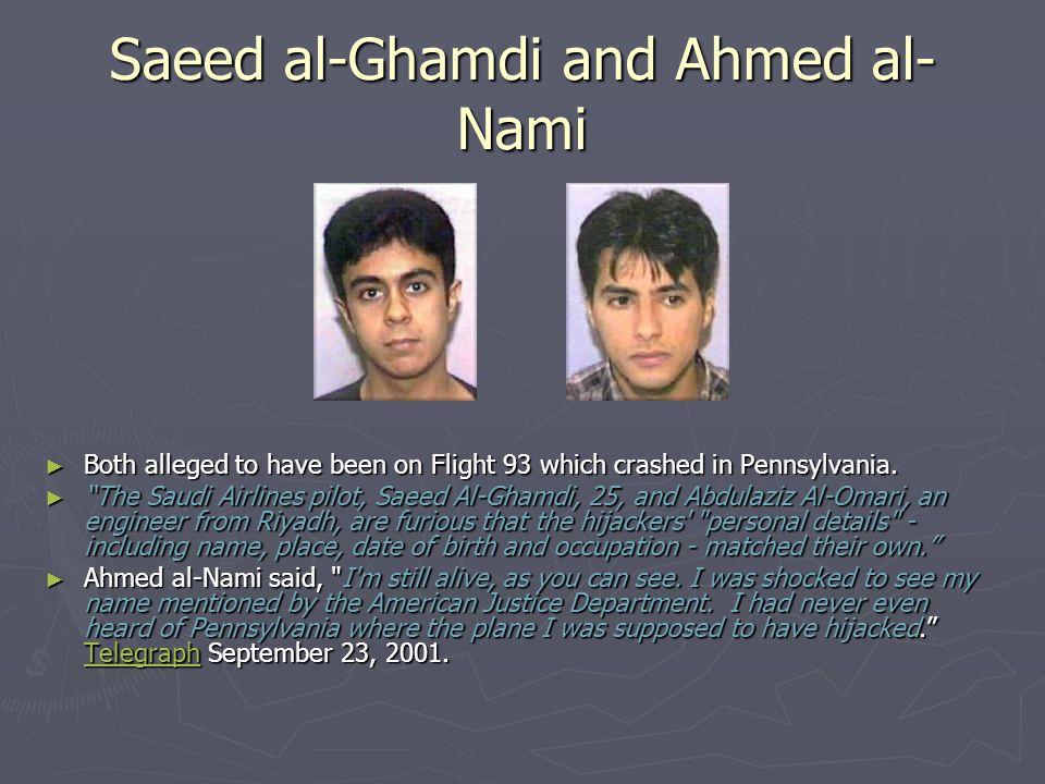 Saeed al-Ghamdi and Ahmed al-Nami