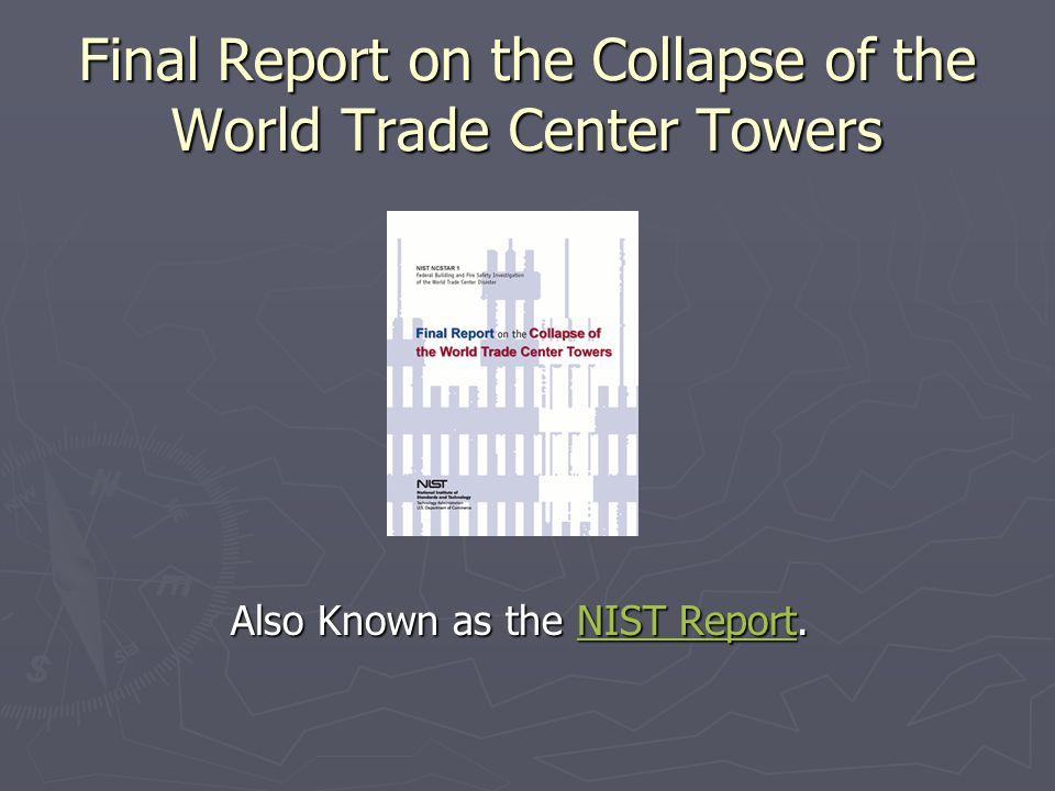 Final Report on the Collapse of the World Trade Center Towers
