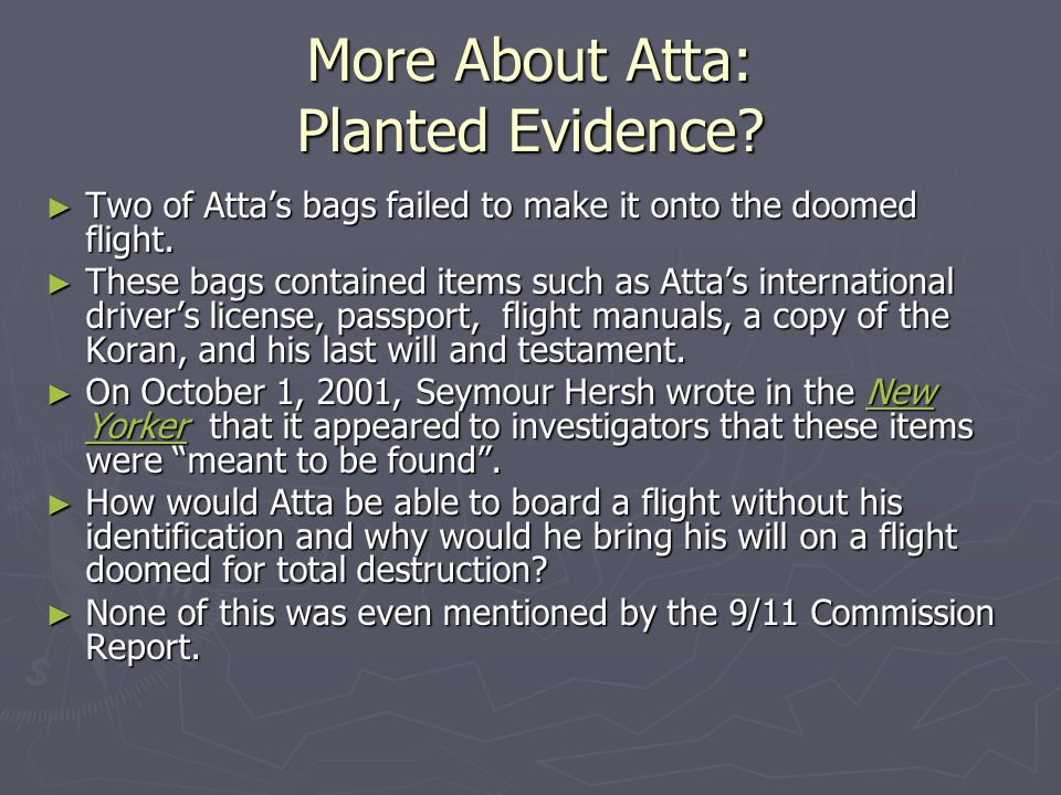 More About Atta: Planted Evidence