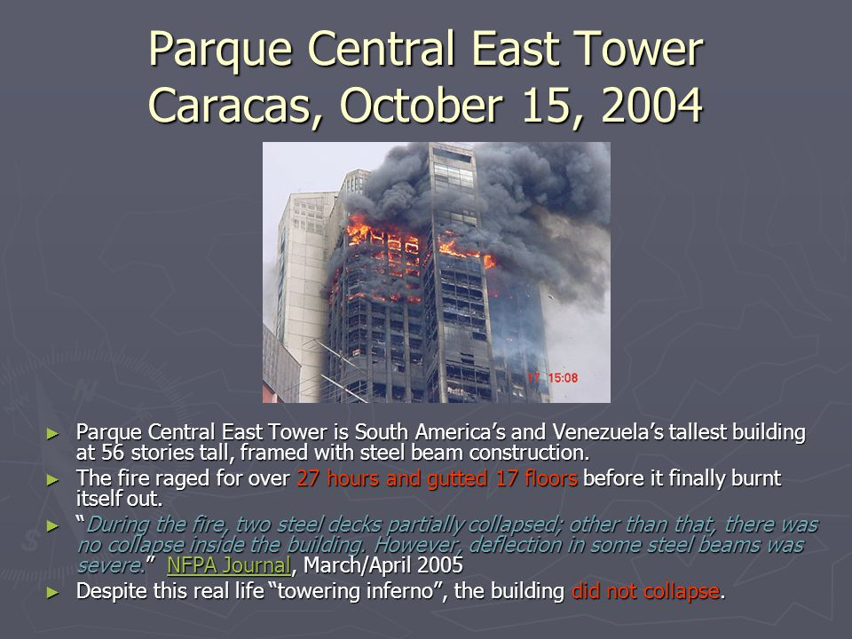 Parque Central East Tower Caracas, October 15, 2004