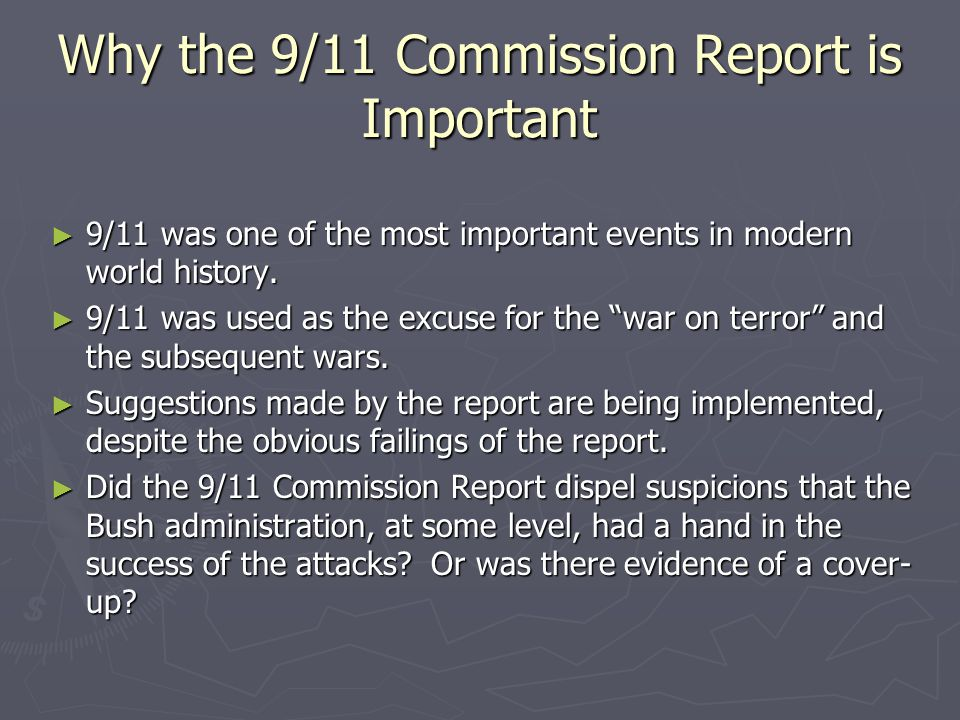 Why the 9/11 Commission Report is Important