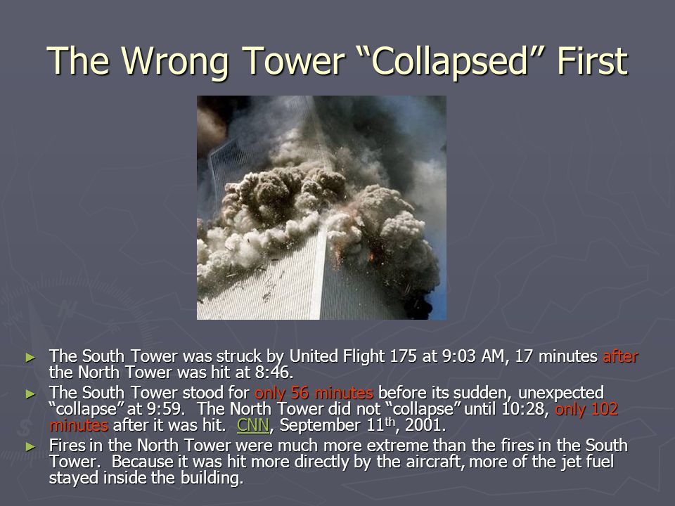 The Wrong Tower Collapsed First