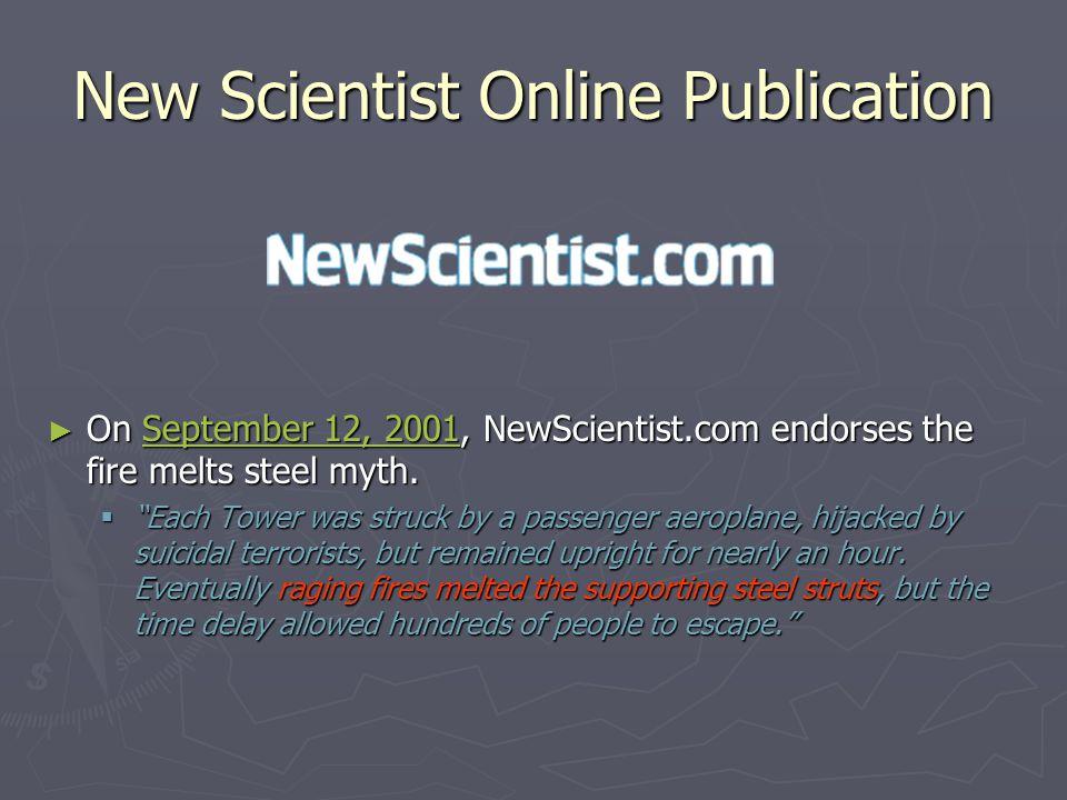 New Scientist Online Publication