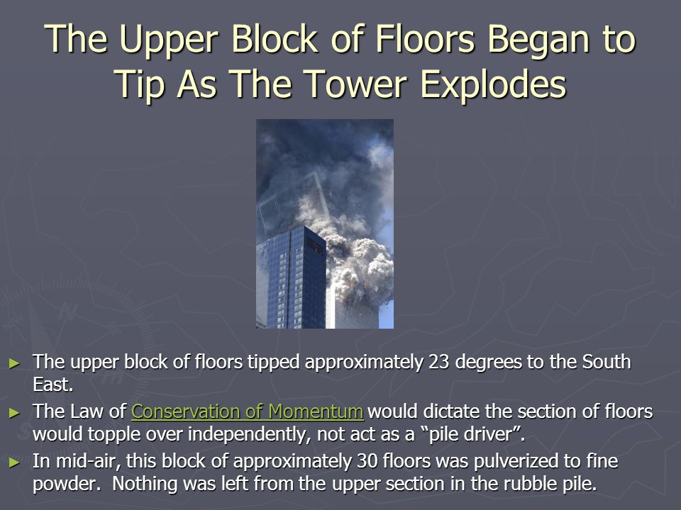 The Upper Block of Floors Began to Tip As The Tower Explodes