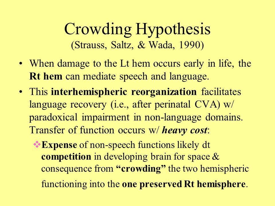 Crowding Hypothesis (Strauss, Saltz, & Wada, 1990)