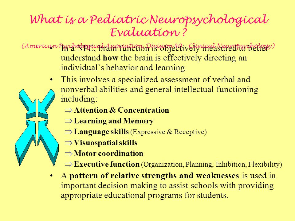 What is a Pediatric Neuropsychological Evaluation