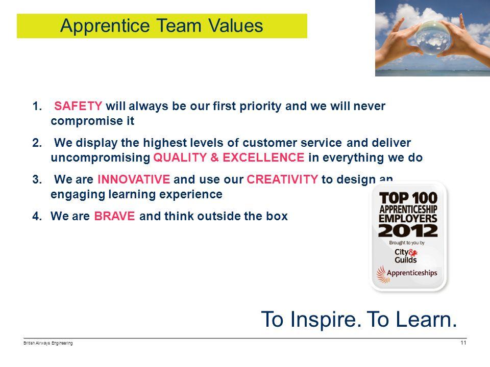 Apprentice Team Values