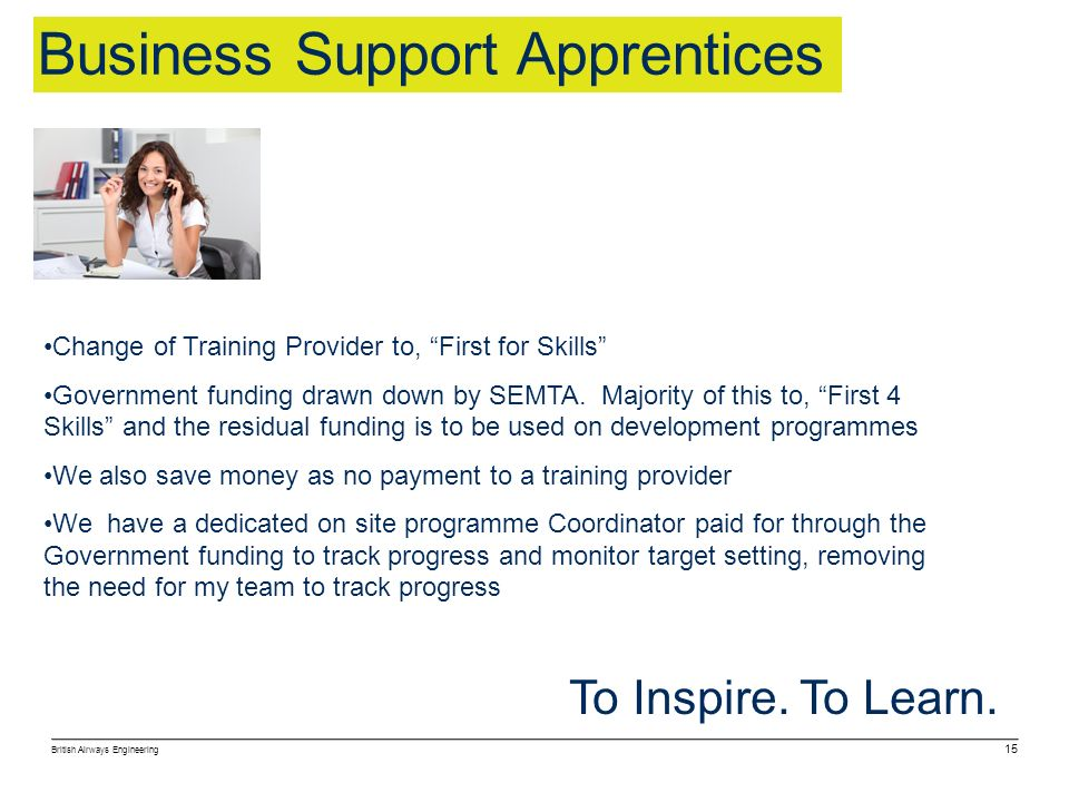 Business Support Apprentices