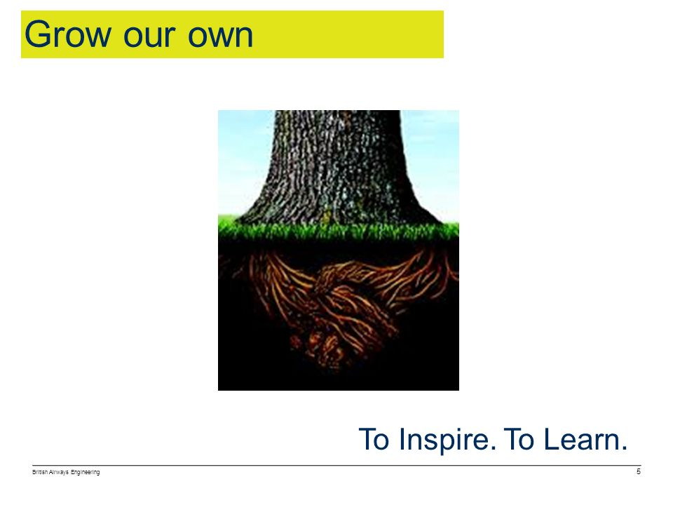 Grow our own To Inspire. To Learn. 5