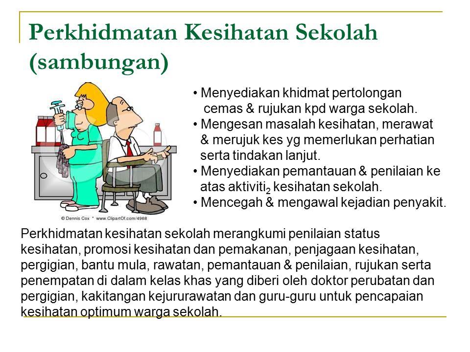 Perkhidmatan Kesihatan Sekolah (sambungan)