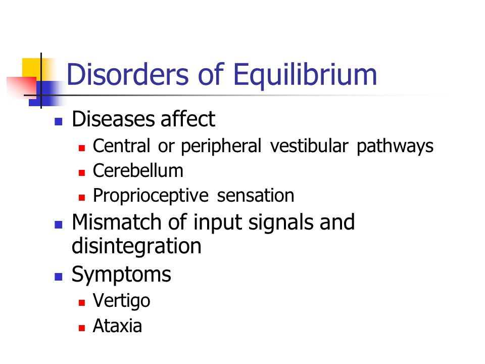 Disorders of Equilibrium