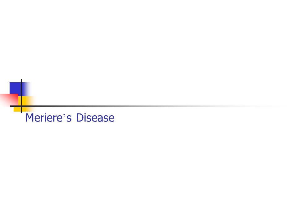 Meriere's Disease