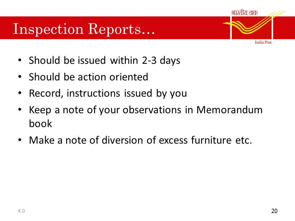 Inspection Reports… Should be issued within 2-3 days