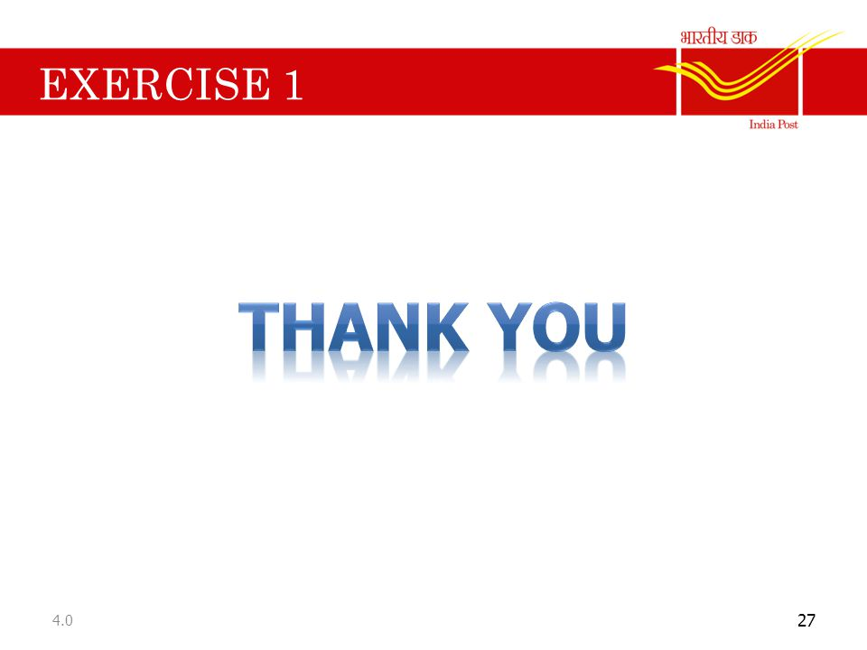 EXERCISE 1 Thank you 4.0