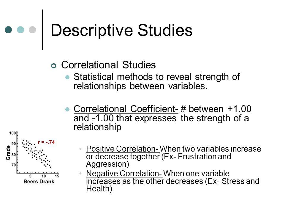 Descriptive Studies Correlational Studies