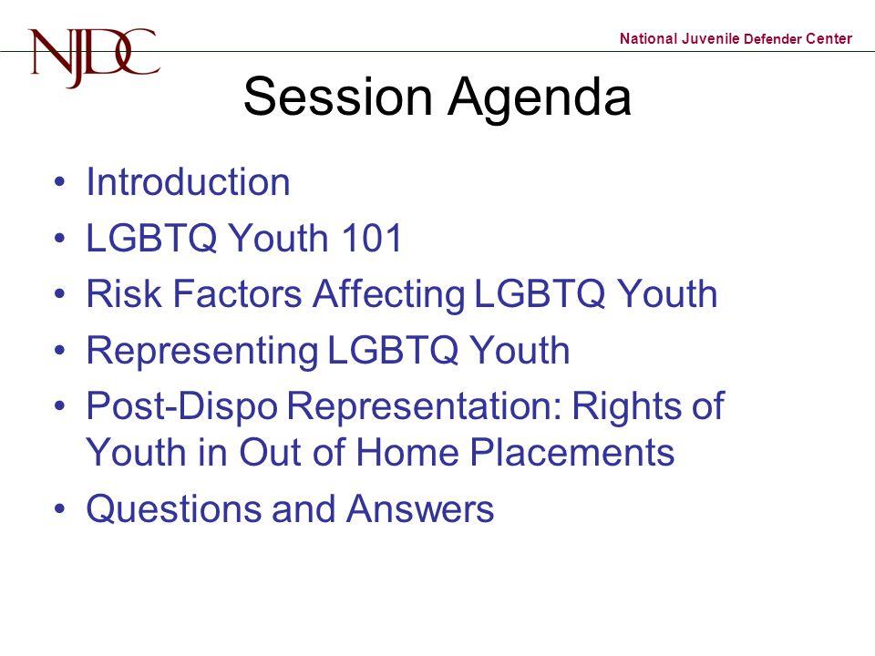 Session Agenda Introduction LGBTQ Youth 101