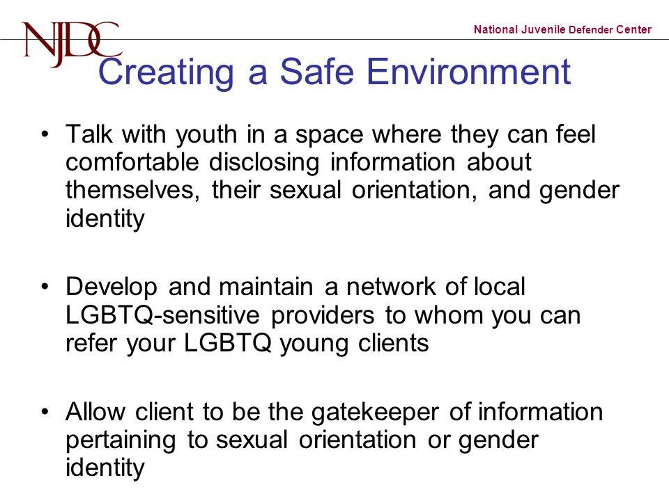 Creating a Safe Environment