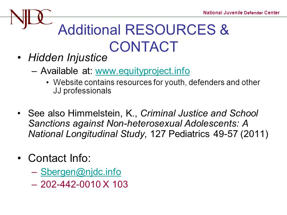 Additional RESOURCES & CONTACT