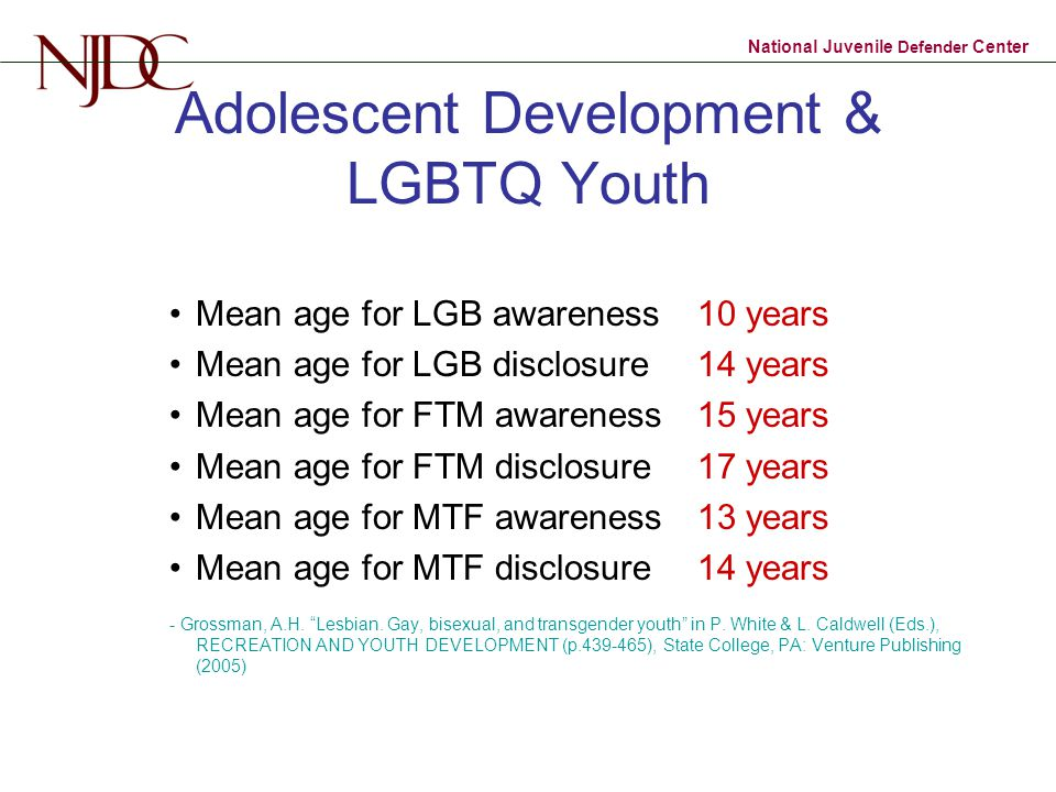Adolescent Development & LGBTQ Youth