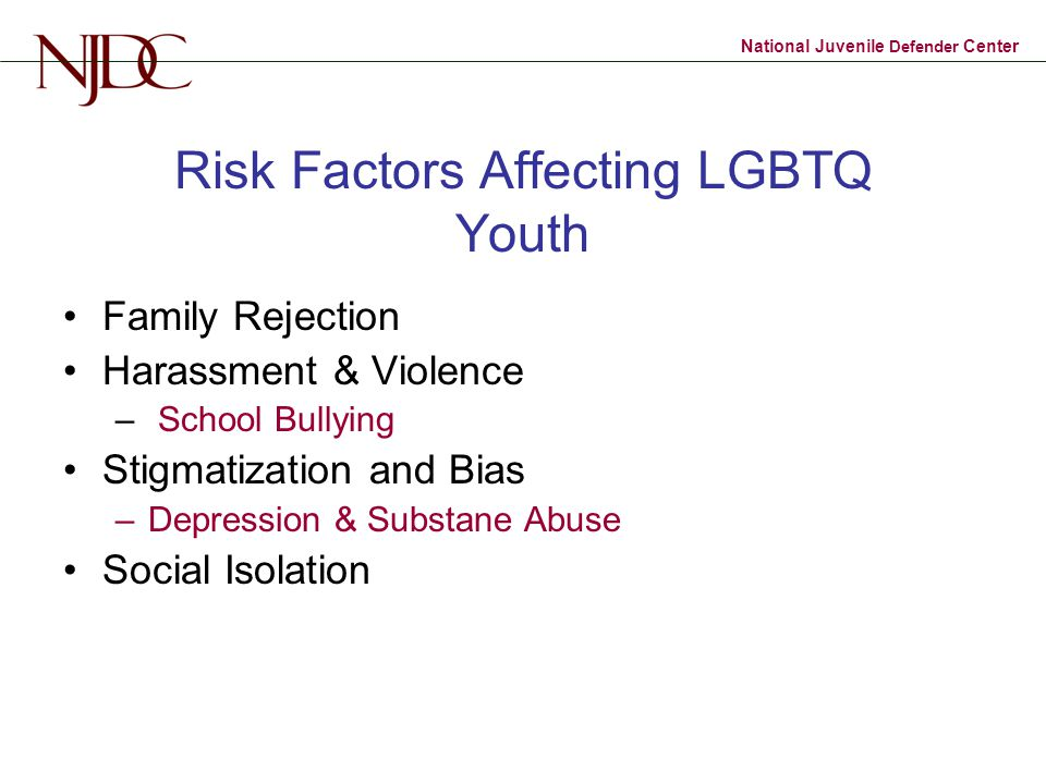 Risk Factors Affecting LGBTQ Youth
