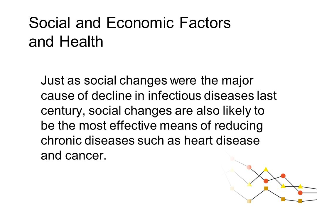 Social and Economic Factors and Health