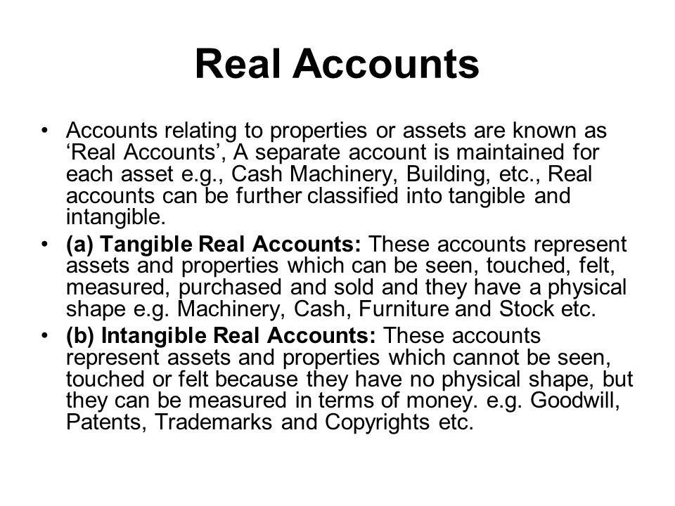Real Accounts