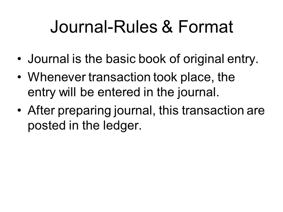 Journal-Rules & Format