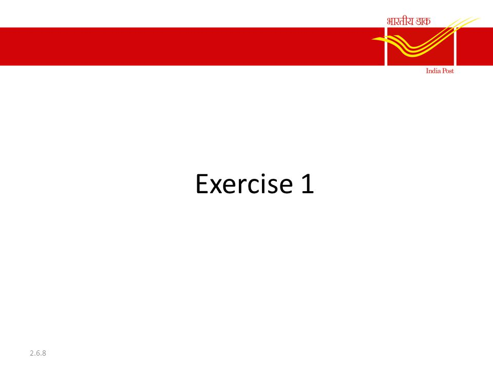 Exercise 1 2.6.8