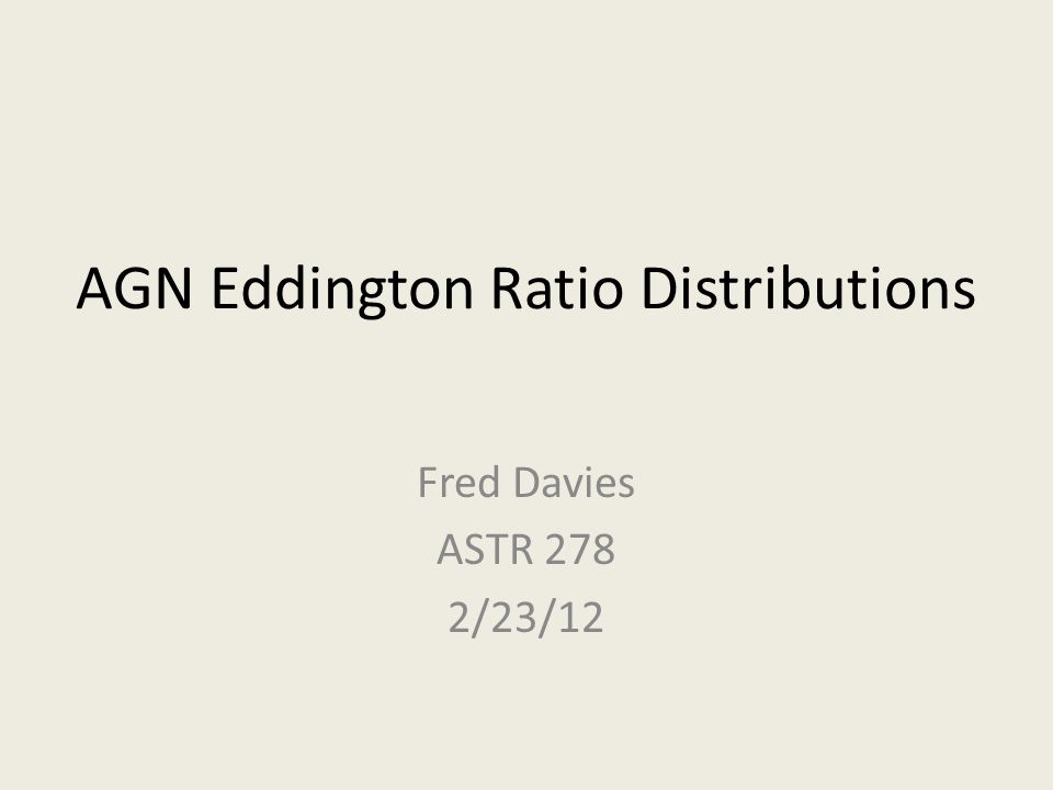 AGN Eddington Ratio Distributions