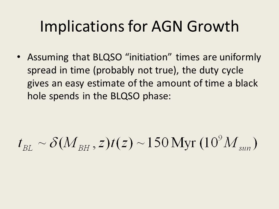 Implications for AGN Growth