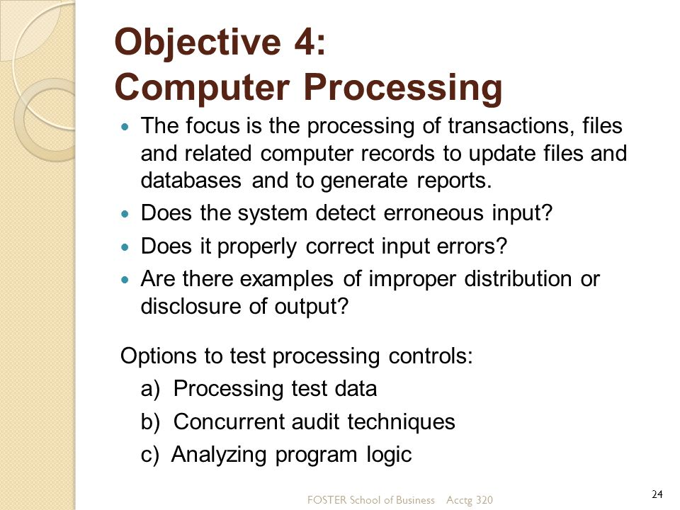 Objective 4: Computer Processing