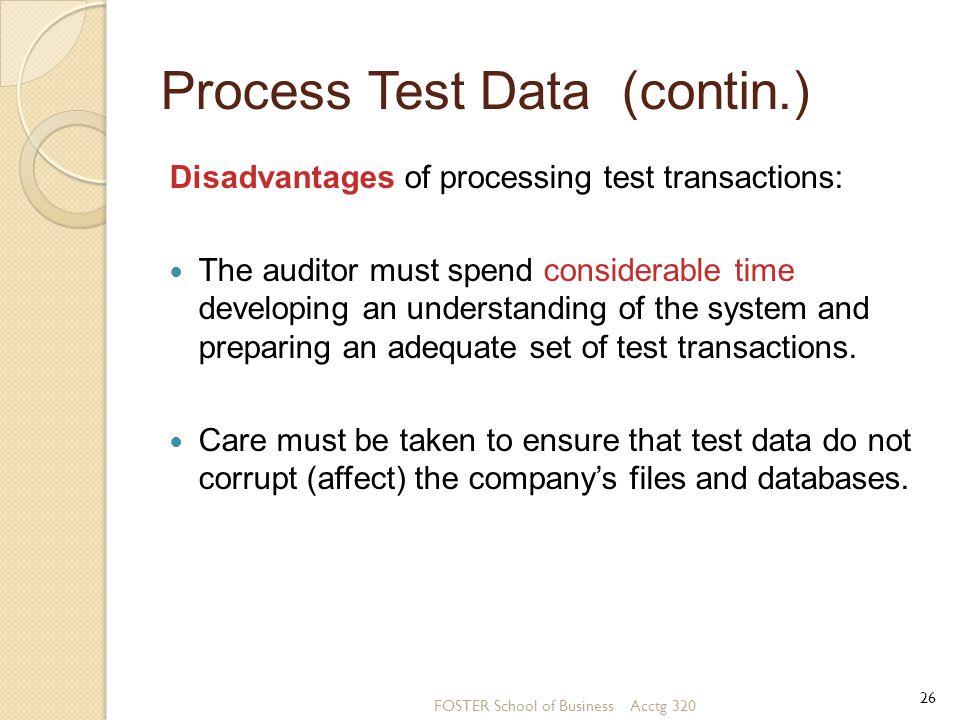 Process Test Data (contin.)