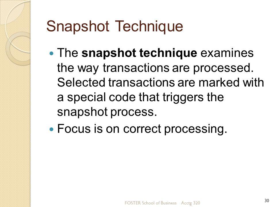 Snapshot Technique