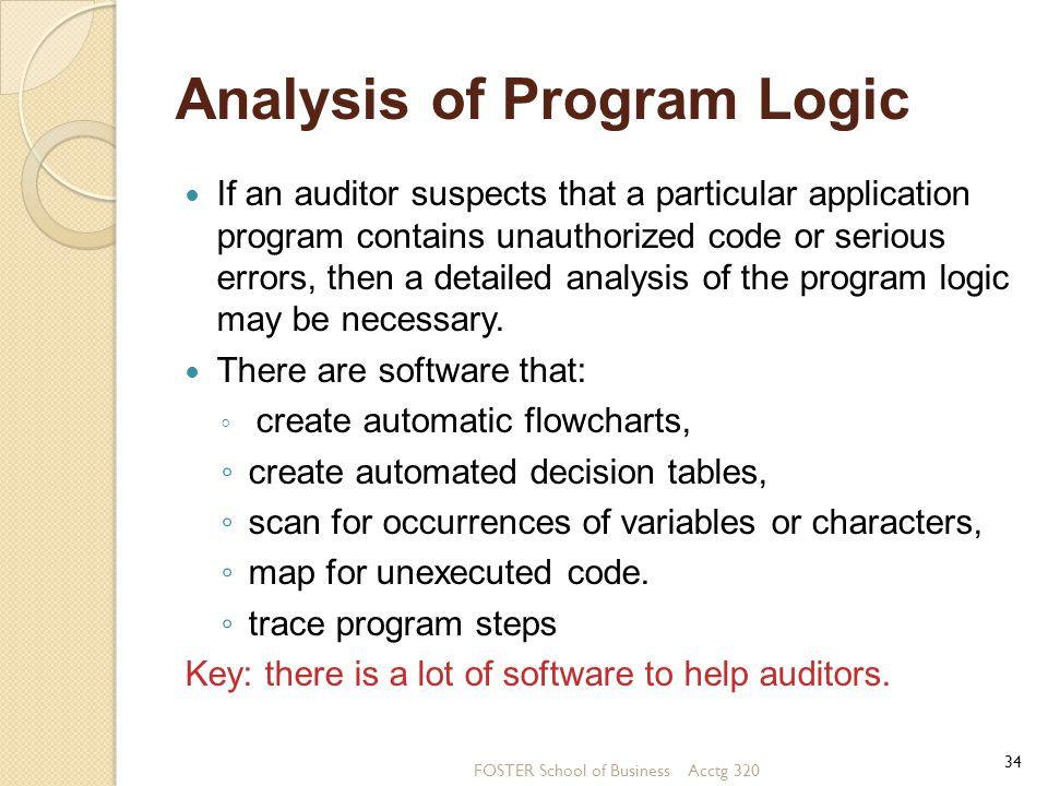 Analysis of Program Logic
