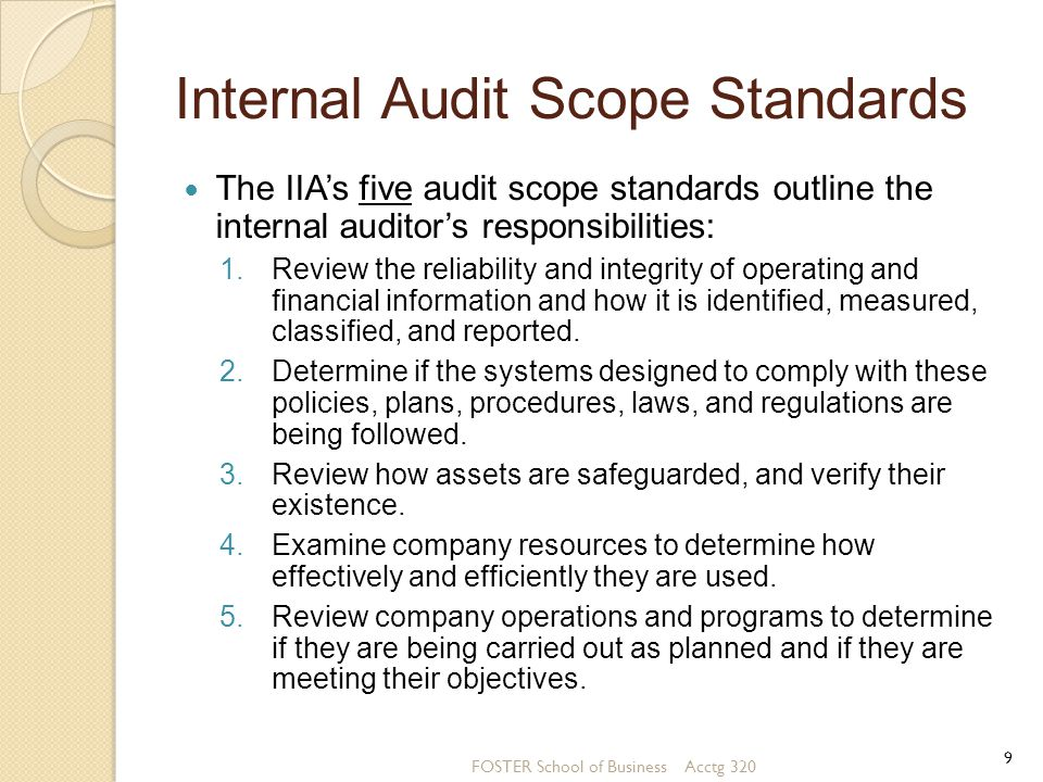 Auditing computer based information systems ppt video for Internal audit scope template