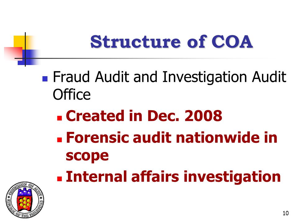 Structure of COA Fraud Audit and Investigation Audit Office