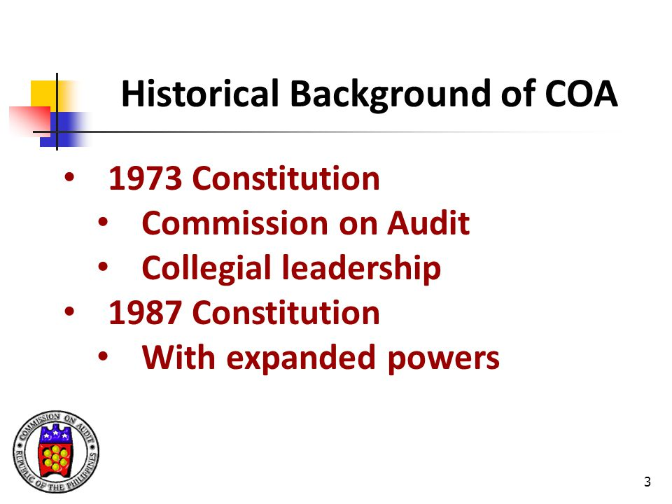 Historical Background of COA