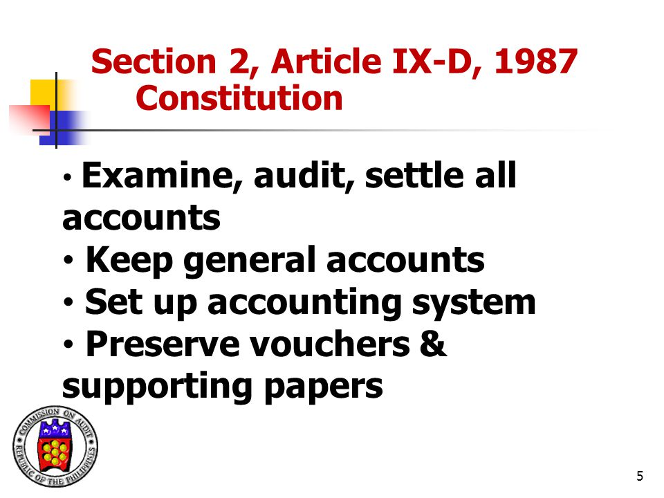Set up accounting system Preserve vouchers & supporting papers